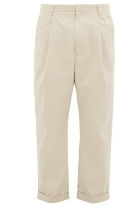 BEIGE Deveaux - Cotton-blend Twill Trousers - Mens - Light