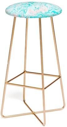 Deny Designs Lisa Argyropoulos Marble Twist Bar Stool