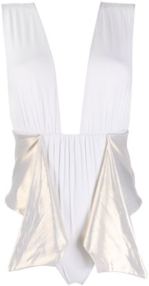 La Reveche Dhalia draped detail swimsuit
