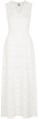 M Missoni Ivory pointelle-knit maxi dress