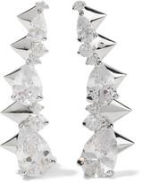 Noir Arctic Ice silver-tone crystal earrings