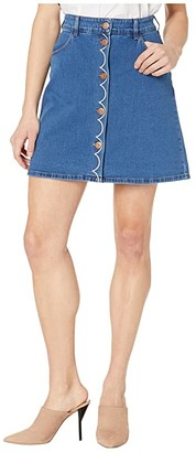 See by Chloe Washed Denim Skirt (Truly Navy) Women's Skirt
