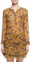 Isabel Marant Boden Floral-Print Silk Blouse