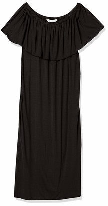 Three Seasons Maternity Women's Off The Shoulder Fitted Midi Dress