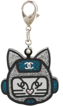 Chanel Pre Owned CC logo keyring