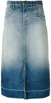 Current/Elliott faded denim midi skirt - women - Cotton - 26