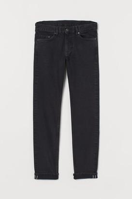 H&M Slim Selvedge Jeans - Black