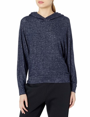 Andrew Marc Women's Hachi Long Sleeve Boxy Dolman Hooded Pullover