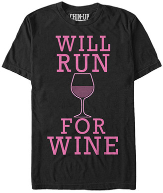 Chin Up Apparel Women's Tee Shirts BLACK - Black 'Will Run For Wine' Tee - Women & Plus