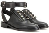 Balenciaga Pierce Open-back Leather Oxford Shoes
