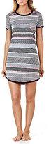 Kensie Striped Jersey Sleepshirt