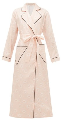Emilia Wickstead Amana Striped Cotton-poplin Robe - Pink