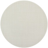 Chilewich Basketweave Round Placemat - Cement