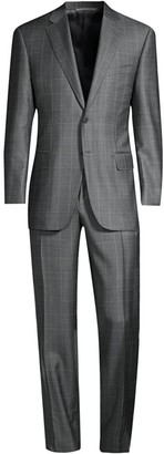 Canali Windowpane Wool Suit