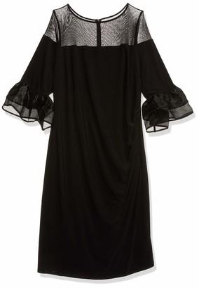 Marina Women's Plus Size Bell Sleeve midi Dress
