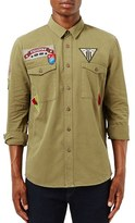 Topman Men's Twill Shirt With Patches