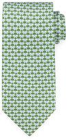 Salvatore Ferragamo Butterfly-Print Silk Tie, Green/Blue
