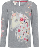 Monsoon Helen Horse Long Sleeve Tshirt