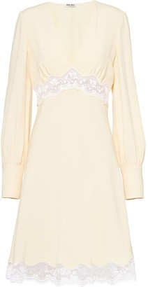 Miu Miu Lace Detail Short Dress