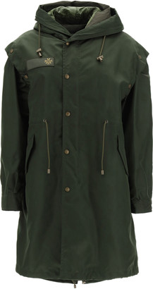Mr & Mrs Italy PARKA WITH REMOVABLE VEST AND BOLERO S Green Technical