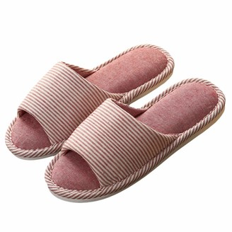 SOIMISS Women Indoor Slippers Slippers Comfortable House Slippers Cloth Home Slippers (Size 39-40) Pink
