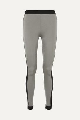 NO KA 'OI No Ka'oi NO KA'OI - Mahina Kala Two-tone Stretch Leggings - Silver