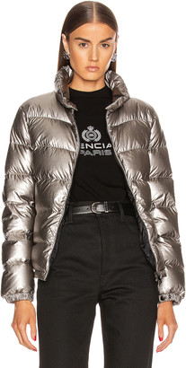 Moncler Gris Giubbotto Jacket in Silver | FWRD
