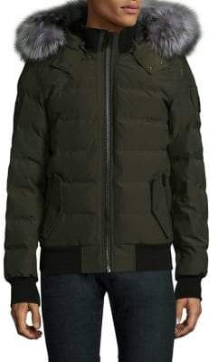Moose Knuckles Scoudouc Fur-Trim Bomber Jacket
