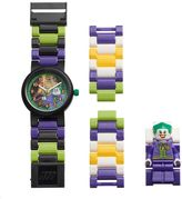 Lego Kids' DC Comics Joker Minifigure Interchangeable Watch Set