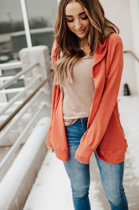 Stay All Day Cardigan - Terracotta