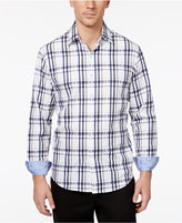 Tasso Elba Men's Yinetto Plaid Long-Sleeve 100% Cotton Shirt, Only at Macy's