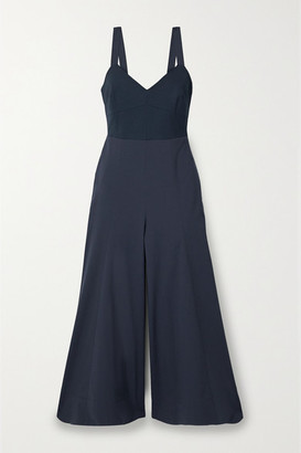 La Ligne Stretch-jersey And Crepe Jumpsuit - Navy