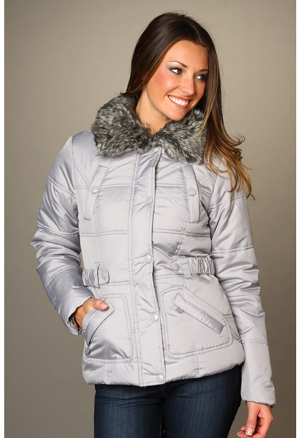 Dollhouse Poly Fill Puffers (Paloma Silver) - Apparel