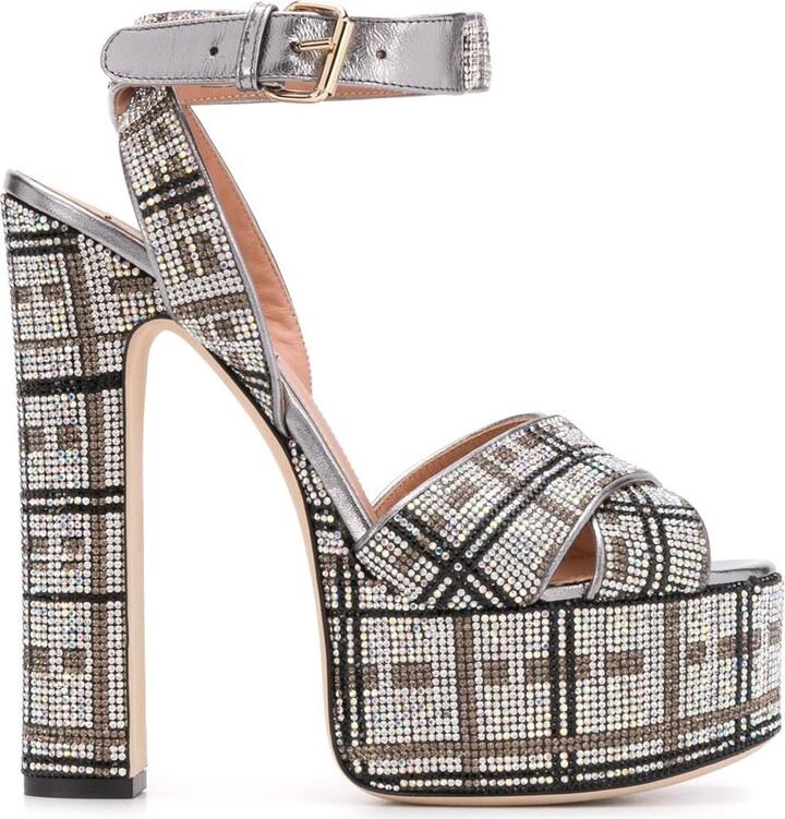Thumbnail for your product : Marco De Vincenzo Crystal-Embellished Platform Sandals