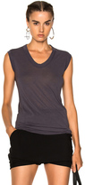 Rick Owens V Neck Sleeveless Tee in Gray.