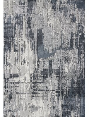 17 Stories Boatright Abstract Gray Area Rug Rug Size: Rectangle 6' x 9'