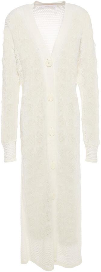 See by Chloe Pointelle-knit Alpaca-blend Cardigan