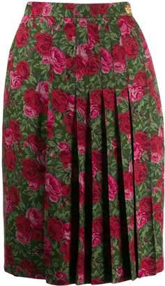 Saint Laurent Pre-Owned 1970's floral print skirt