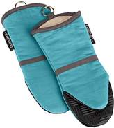 Cuisinart Oven Mitt with Non-Slip Silicone Grip, Heat Resistant to 500° F, Aqua, 2-Pack