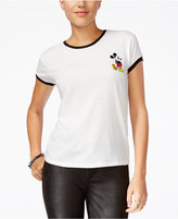 Mighty Fine Juniors' Disney Mickey Mouse Patch Graphic T-Shirt
