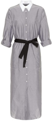 Brunello Cucinelli Striped cotton shirt dress