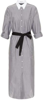 Brunello Cucinelli Striped cotton shirt dress