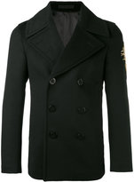Alexander McQueen embroidered patch coat - men - Virgin Wool/Cashmere/Cotton/Viscose - 46