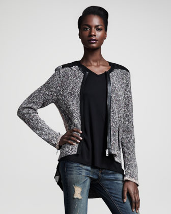 Rag and Bone Rag & Bone Lory Tweed Zip Jacket