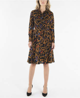 Nanette Lepore nanette Long Sleeve Pintuck Shirtdress with Belt