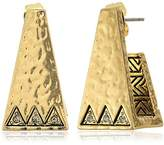 House Of Harlow Golden Scutum Trapezoid Earrings