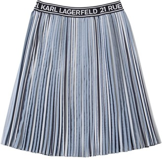 Karl Lagerfeld Paris Pleated Chambray Skirt