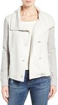 Caslon Asymmetrical Button Front Jacket (Regular & Petite)