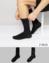 BOSS Black By Hugo 2 Pack Spot Socks