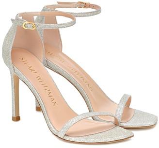 Stuart Weitzman Amelina glitter sandals